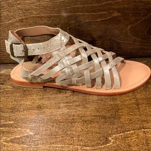 Shoes - Diba True silver metallic sandal
